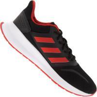 Tênis Adidas Run Falcon - Masculino - Preto/Vermelho