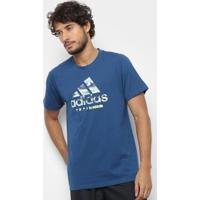Camiseta Adidas Logo Freelift 360 Masculina - Masculino-Azul Claro