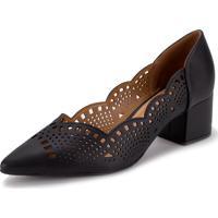 Sapato Feminino Salto Baixo Vizzano - 1220227 Preto 01 35