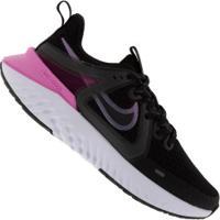 Tênis Nike Legend React 2 - Feminino - Preto/Rosa