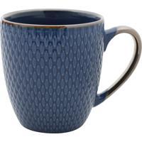 Caneca De Porcelana Thaya Azul 400Ml