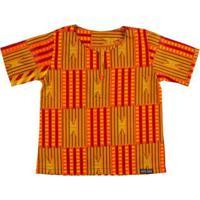 Blusa Bata Infantil Hype Kids Africana Zimbabue Masculina - Masculino-Laranja