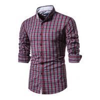 Camisa Xadrez Roanoke Masculina - Vermelha
