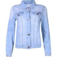 Jaqueta Jeans Gang Botões Azul