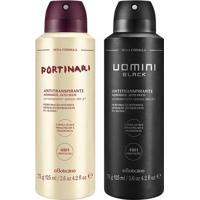 Combo Desodorante Masculino: Desodorante Aerosol Portinari + Desodorante Aerosol Uomini