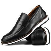 Sapato Social Casual Brogue Confort Preto Calce Facil
