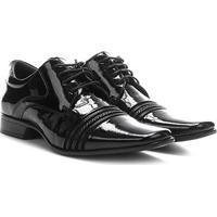 Sapato Social Couro Rafarillo Las Vegas Verniz Masculino - Masculino-Preto