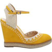 Sandália Anabela Nobuck Handmade Yellow   Schutz