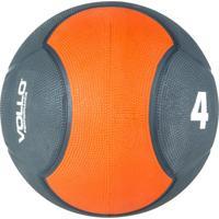 Medicine Ball Vollo Vp1004 4Kg Emborrachada Cinza/Laranja