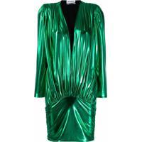 The Attico Vestido Lamé - Verde