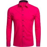 Camisa Social Lines - Pink