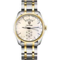 Relógio Tevise 8379-002 Masculino Automático Pulseira De Aço - Branco E Dourado