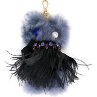 Miu Miu Chaveiro 'Monster' De Couro - Azul