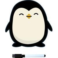 Lousa Magnética Para Geladeira Com Caneta Pinguim - Prana - Branco / Preto