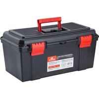 Caixa Para Ferramentas 22'' Em Polipropileno 27X28X55,5Cm Preto E Vermelho