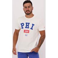 Camiseta New Era Essential Nba Philadelphia 76Ers Off White