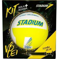 Kit Stadium Com Bola De Vôlei E Bomba De Ar - Penalty - Kanui