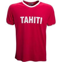Camisa Liga Retrô Taiti 1980´S - Masculino-Vermelho