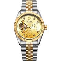 Relógio Tevise 629 Masculino Automático Pulseira De Aço - Dourado