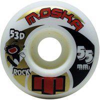 Rodas Moska Rock 55Mm 53D Branca