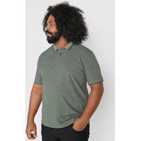 Camisa Polo Dudalina Reta Frisos Verde