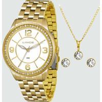 Kit Relógio Feminino Lince Lrg4340L Kb46B2Kx