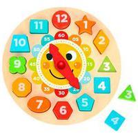 Relógio De Madeira Solzinho - Tooky Toy - Multicolorido