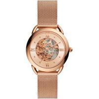 Relógio Fossil Tailor Automatic Feminino - Feminino-Rosa