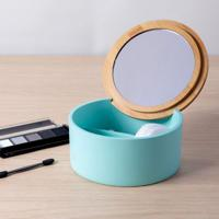 Porta Acessórios Para Banheiro De Bancada Azul Soft Coisas E Coisinhas
