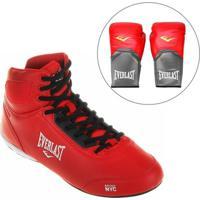 Kit Tênis Everlast Legend + Luva De Boxe/Muay Thai 14 Oz - Masculino