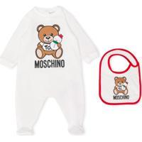 Moschino Kids Pijama Com Boneco De Neve Teddy Bear - Branco