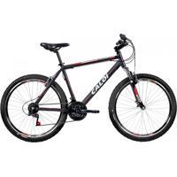 Bicicleta Mtb Caloi Aluminum Sport Aro 26 - Quadro Alumínio - 21 Velocidades - Preto
