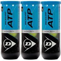 Kit 3X Pack Bola De Tênis Dunlop Atp - Unissex
