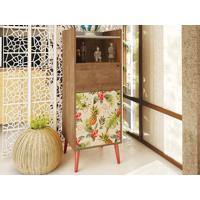 Cristaleira 2 Portas E Pé Palito Vermelho Style Buriti/Tropical