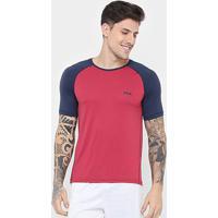 Camiseta Fila Dots Masculina - Masculino-Vermelho+Marinho
