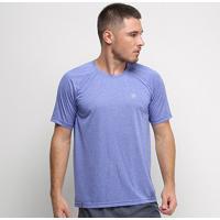 Camiseta Fila Basic Melange Ii Masculina - Masculino-Azul