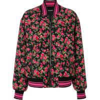 Dolce & Gabbana Jaqueta Bomber Floral - Roxo