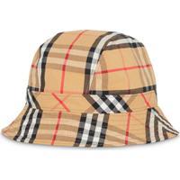 Burberry Vintage Check Cotton Bucket Hat - Marrom