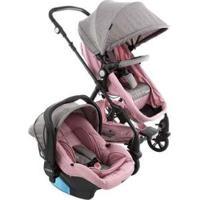 Carrinho De Bebê Com Bebê Conforto Cosco Poppy 0 A 15Kg - Unissex-Rosa