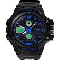Relógio Skmei Anadigi 0990L Azul