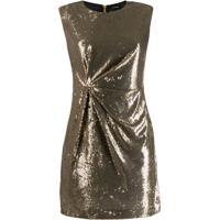 P.A.R.O.S.H. Vestido Mini Com Paetês - Dourado