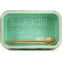 Marmita Com Trava- Incolor & Verde Claro- 800Ml-Jacki Design