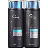 Kit Truss Miracle 1 Shampoo 300Ml + 1 Condicionador 300Ml Cabelos Danificados - Unissex-Incolor