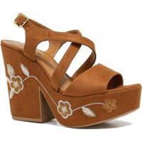 Sandália Zariff Shoes Plataforma Flores