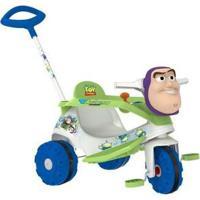 Triciclo Infantil Buzz Lightyear 3050 - Unissex-Branco+Azul