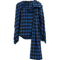 Y/Project Blusa Xadrez - Azul