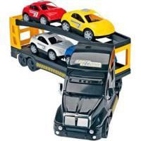 Caminhão Carrinhos Super Cegonha Xplast - Unissex-Preto