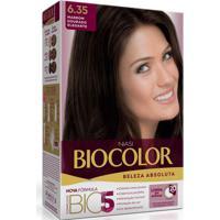 Tintura Creme Biocolor 6.35 Marrom Dourado Elegante