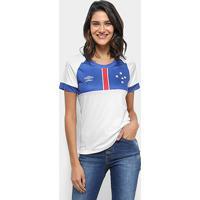 Camisa Cruzeiro Ii 2018 S/N° Blár Vikingur - Torcedor Umbro Feminina - Feminino