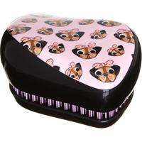 Escova De Cabelos Tangle Teezer Compact Style Edição Limitada Pug Love 1 Unidade - Unissex